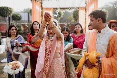The bride completes her vidaai rituals