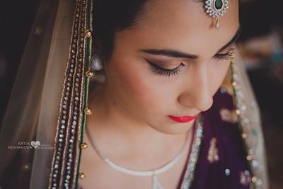 Bridal makeup by Tejasvini Chander, Delhi.