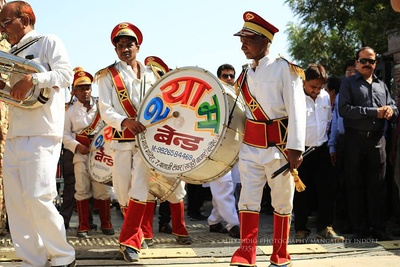 Any baarat procession is incomplete without band-baja!