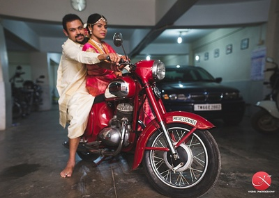 Posing in Tollywood style for their post wedding photo shoot