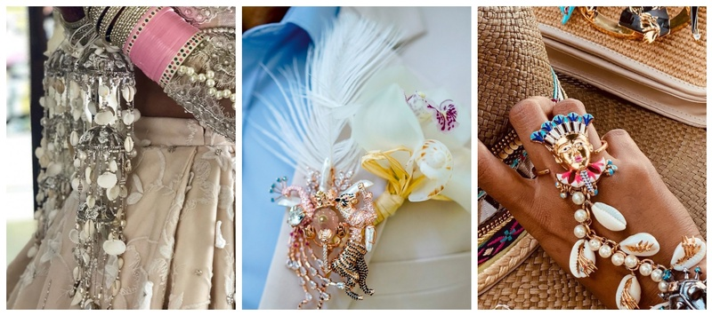 Seashell jewellery and accessories are becoming the new BIG TREND at weddings!
