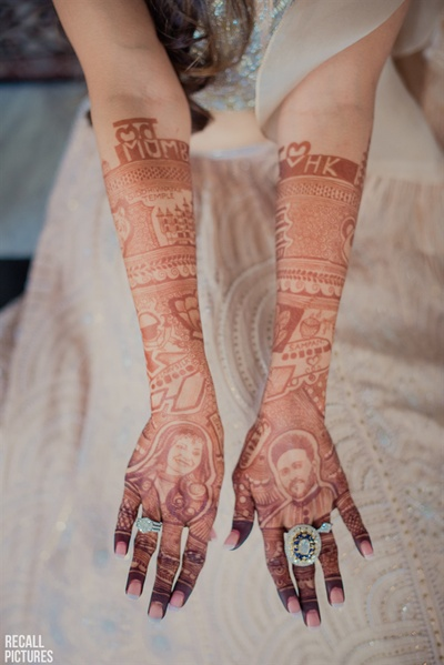 Silky's unique mehendi design
