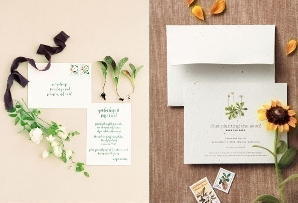 Give out Eco-Friendly or Green Wedding Invitation Cards Created Using Recycled Paper