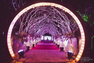 rustic entrance decor for the grand reception