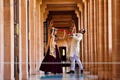 Dressed like royals for their pre wedding at the historic Taj Umaid Bhavan