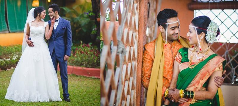 Jeffery & Bageshree Mumbai : They first had a hindu varmala, followed by a Maharashtrian wedding and then ending the celebrations