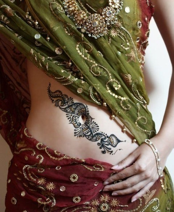 Eye-Catching Bridal Mehndi Designs for the Belly
