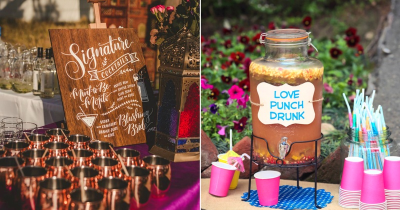 Creative & fun ways to serve alcohol at your cocktail or reception!