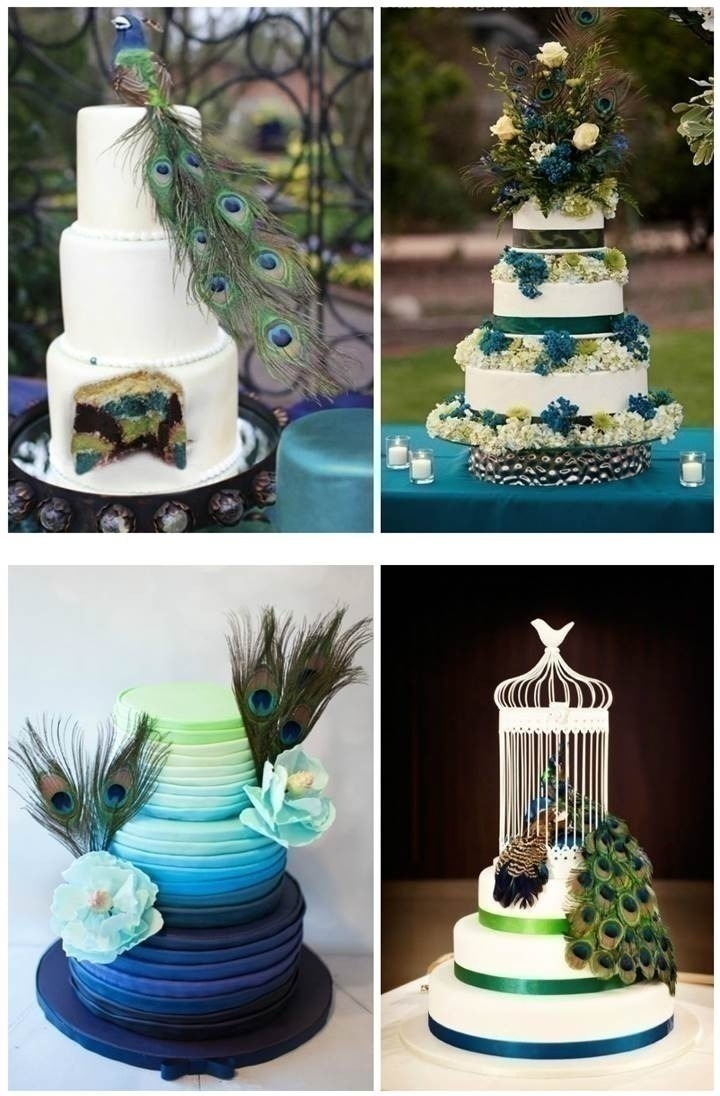peacock colored wedding cakes how to plan a peacock themed indian wedding 18155