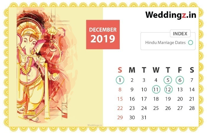 Marriage Dates in 2019, November
