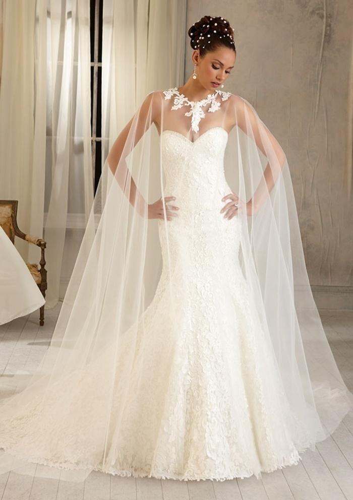 Cape Wedding Dress
