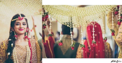 Ramsha's entry for the mehendi ceremony !