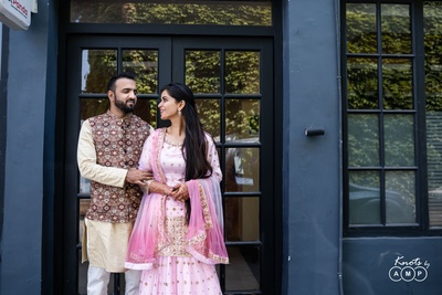 Ain and Sarmad at their post-wedding photoshoot.
