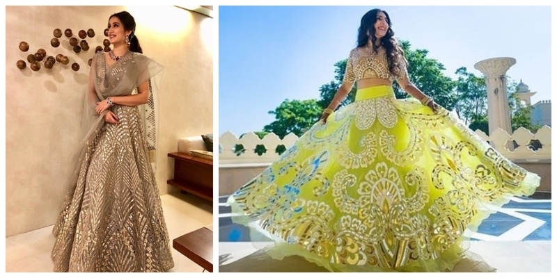 #Trending – Metallic Mirror Lehengas are taking the internet by storm!