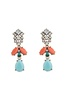 Nizanta Turquoise & Peach Drop Earrings image