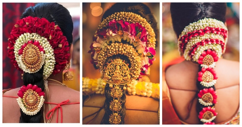 10 Poola Jada designs - a must-see for every South Indian bride!