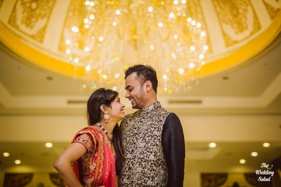 Traditional bride and groom candid photography