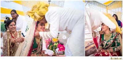 Gold Rajwada styled bridal necklace