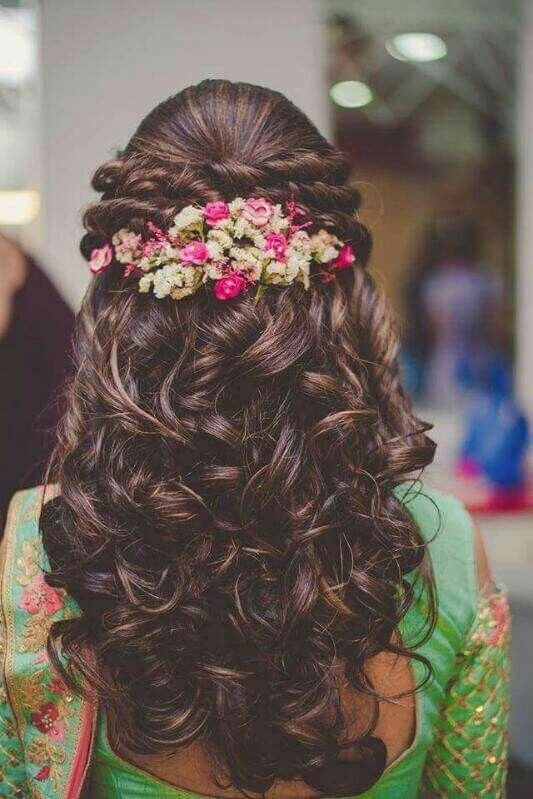Easy hairstyle for saree long hair
