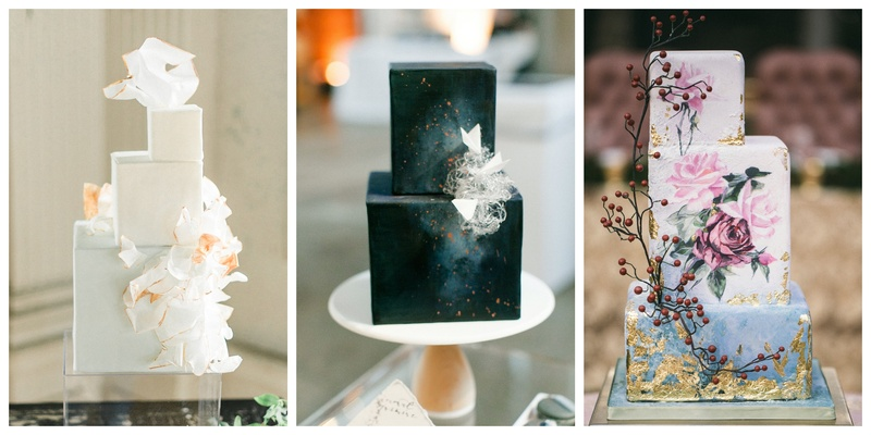 Trending: 5 Cube-Shaped Wedding Cakes for the Contemporary Couple