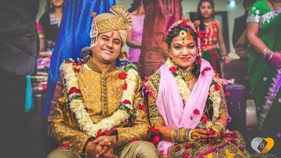 Bridegroom's yellow and gold wedding sherwani