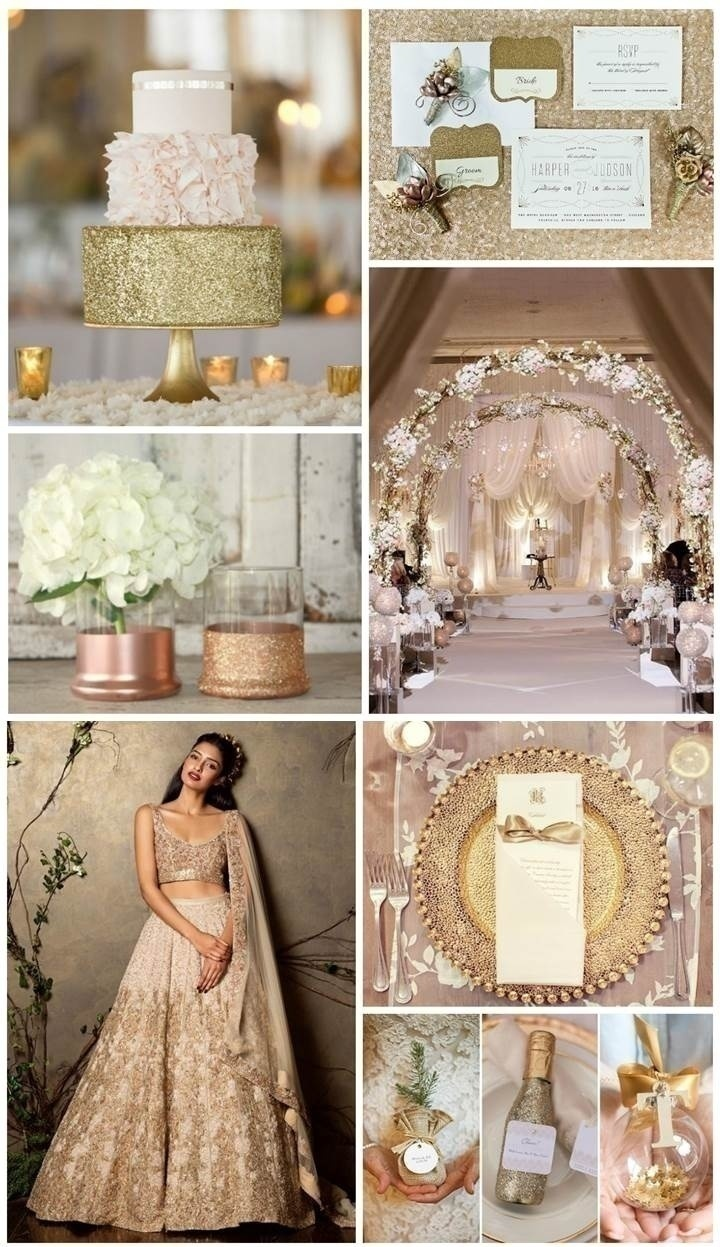 GLITTERY NEUTRAL WEDDING THEME IDEA
