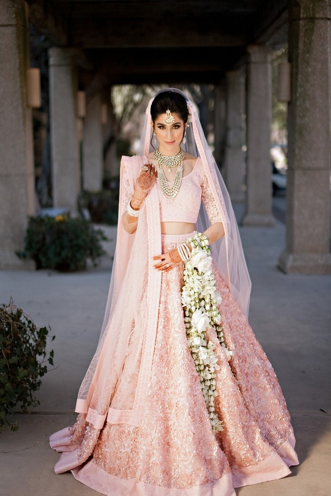 10 pastel pink wedding lehengas that the coolest indian for Indian wedding dresses usa
