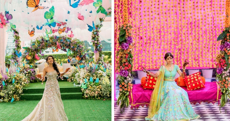 15 Best Mehndi Backdrops we spotted in Real Weddings!