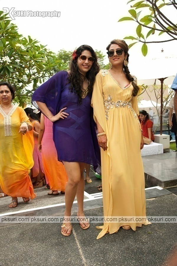 Butterscotch Yellow for the Mehndi + Pool Party