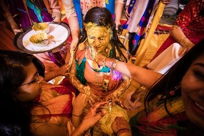 Haldi ceremony in full swing!