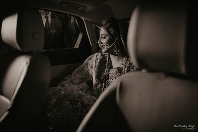 The bride gets ready to begin her new journey
