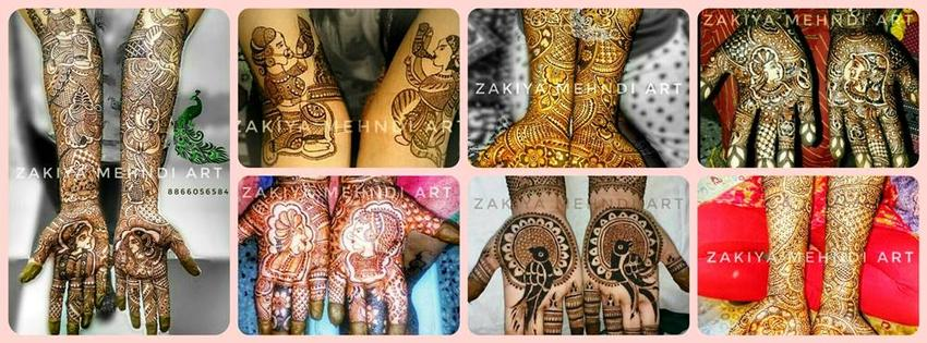 Zakiya Award Winner Professional Bridal Mehndi Artist | Ahmedabad | Mehendi Artists