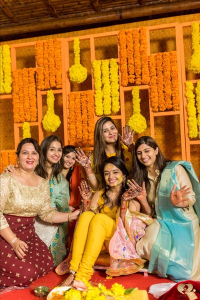 The bride with her girl gang.