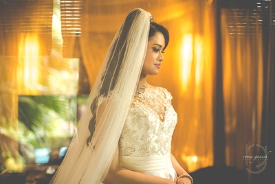 bridal gown for the wedding ceremony