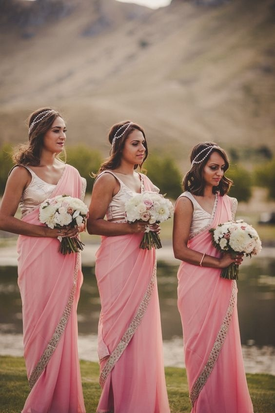 022316f8f9 Pink is the most preferred colour for bridesmaids dresses, and it  definitely looks beautiful on all skin tones. If you too are looking for  pink bridesmaid ...