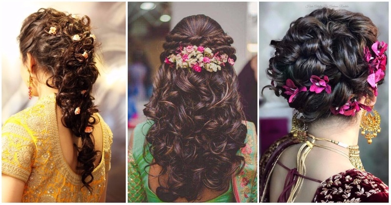 10 Bridal Hairstyles For Curly Hair That Are Perfect For Indian Weddings!