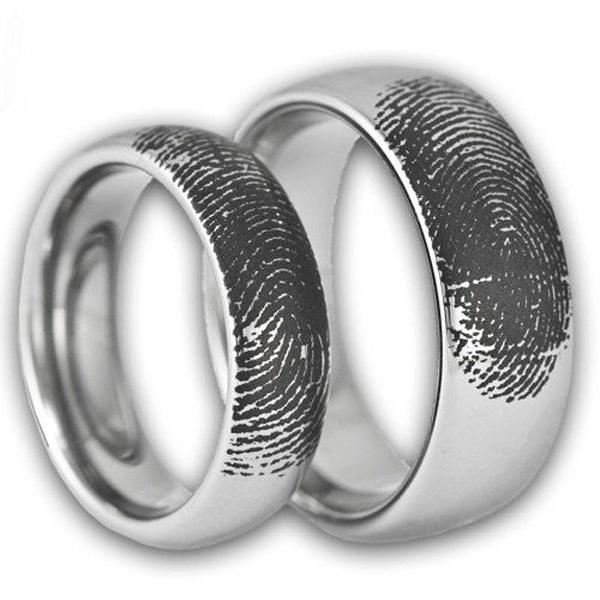 Thumbprint Wedding Bands
