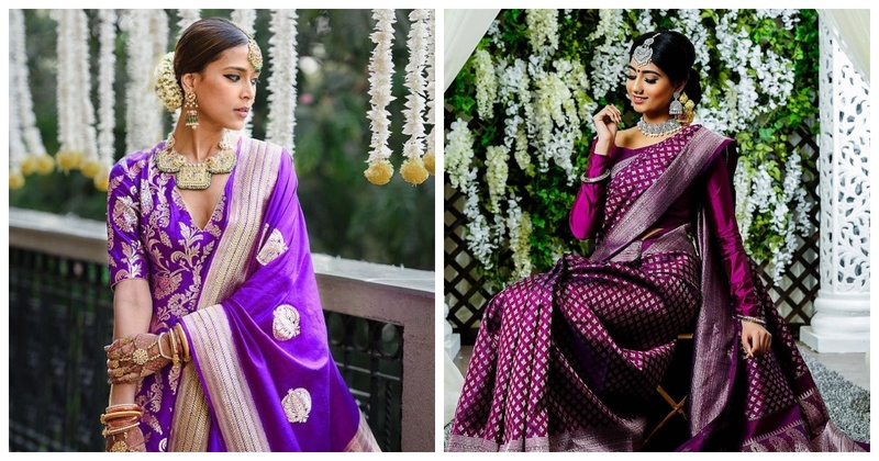 Navratri #Day8: 9 Beautiful Purple Outfits for Brides-to-Be!