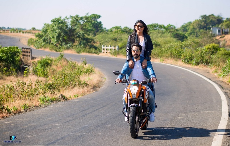 Pre-Wedding Shoot Held In Pune With A Biker Theme