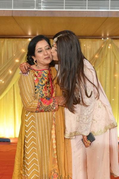 Heena with her mother.