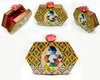 Octagon hand painted wooden box clutch image