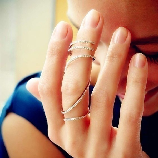 Nails Just Look Better With A Diamond Ring On Your Finger: Long Finger Rings For Stylish Indian Brides