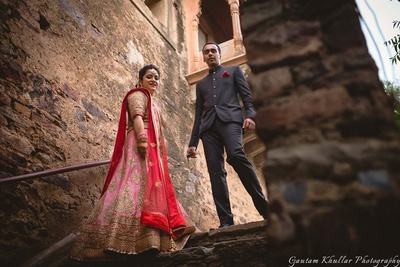 Wedding couple shoot at Neemrana Fort.