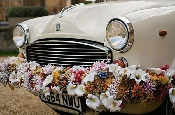 Indian wedding car decoration ideas that are fun and trendy blog bumper frame wedding car decorations junglespirit Image collections