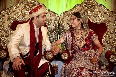 Traditional Indian bridal couple