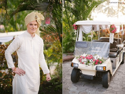 The groom and his savari all ready to receive his bride!