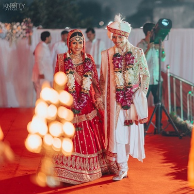 Vishakha and Aman on their wedding day!