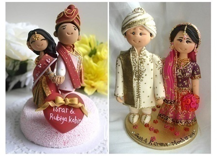 Indian Bride & Groom Cake Toppers