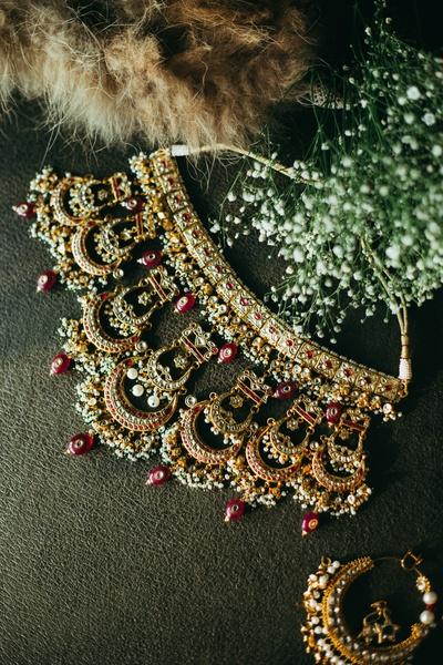 A pretty of the click the wedding chaandbali-inspired jewellery set