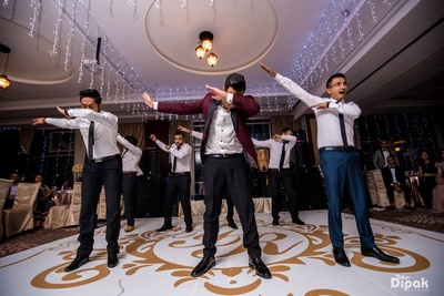 Dab dance by the groom and the groomsmen